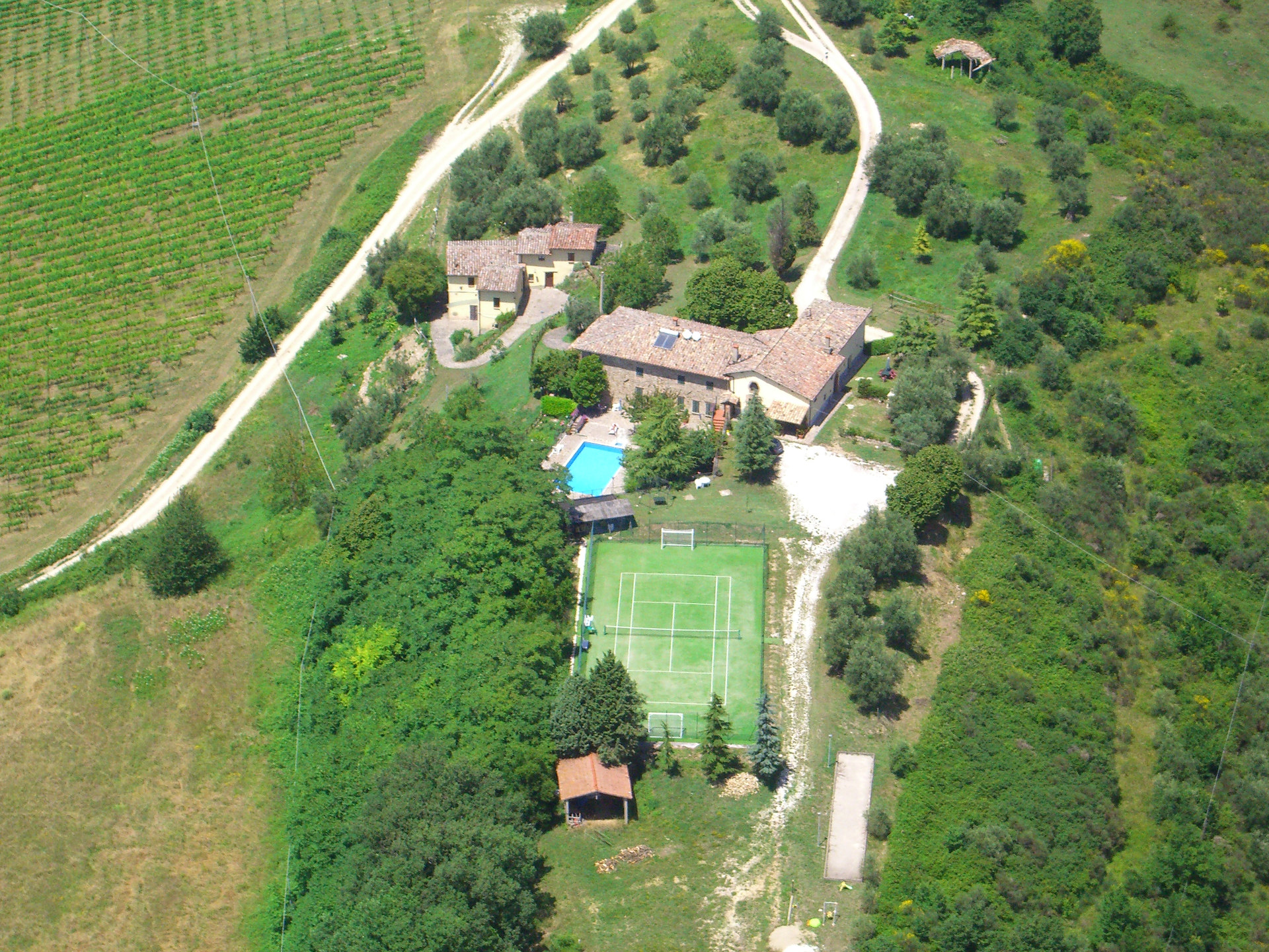 Residenza agrituristica colle del sole vista satellitare