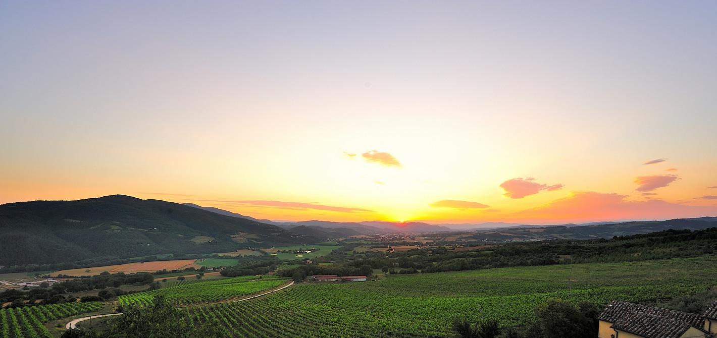 Vista con tramonto Colle del sole Agriturismo